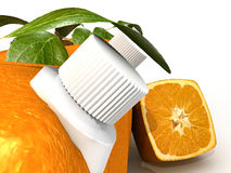 Orange juice close-up Stock Images