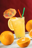 Orange juice cocktail. Orange juice and grapefruit cocktail royalty free stock photos