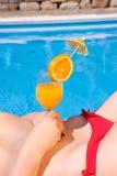 Orange juice cocktail Stock Photo