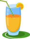 Orange juice, cocktail. In the glass Stock Photo
