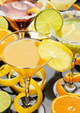 Orange juice in cocktail glass Royalty Free Stock Photos