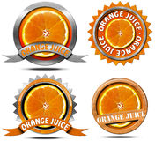 Orange Juice - Collections of Icons Stock Photos
