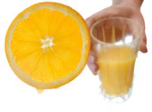 Orange juice concept Stock Images