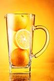 Orange juice conceptual. Orange juice unusual, in studio Royalty Free Stock Photos