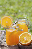 Orange juice. For a Country Home parties Stock Photo