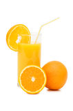 Orange juice in a decanter isolated Royalty Free Stock Photos