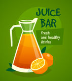 Orange  Juice Design  Concept Royalty Free Stock Image