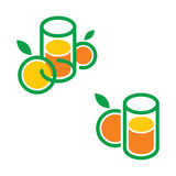 Orange Juice. Juice drink fruit vegetable nature glass design symbol Stock Images