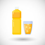 Orange juice  flat icon Stock Photography