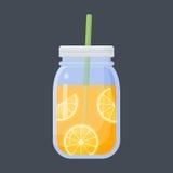 Orange juice flat icon royalty free illustration