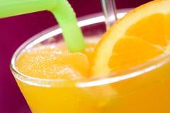 Orange juice frappe. Cold refreshment drink Stock Photos