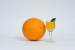 Orange juice. With fresh orange Stock Images