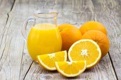 Orange juice and fresh fruits Royalty Free Stock Photography