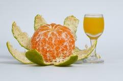 Orange juice. With fresh mandarin Stock Images