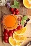 Orange juice with fresh orange fruits sliced Royalty Free Stock Photo