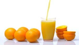 Orange juice. Stock Photos