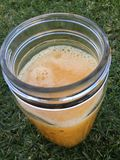 Orange Juice. Freshly squeezed in a jar Royalty Free Stock Photo