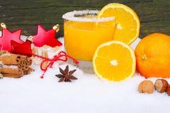 Orange juice, freshly squeezed Royalty Free Stock Images