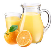 Orange juice and fruit. Royalty Free Stock Photo