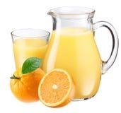 Orange juice and fruit. Royalty Free Stock Photo