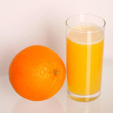 Orange juice and fruit. Stock Photos