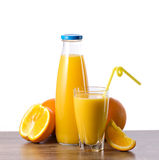Orange juice and fruit Royalty Free Stock Photos