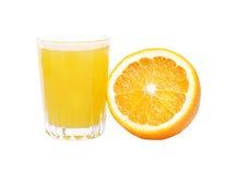 Orange juice and fruit Royalty Free Stock Photo