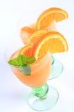 Orange juice fruit cocktail Royalty Free Stock Image