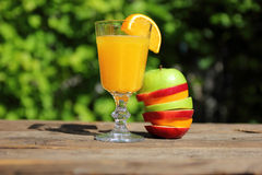 Orange juice and fruit Stock Image
