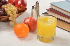 Orange juice with fruit Stock Photo