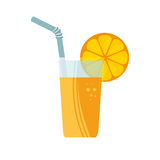 Orange juice fruit icon Royalty Free Stock Image