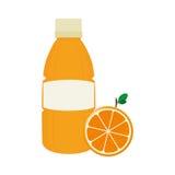 Orange juice fruit icon Royalty Free Stock Images