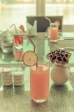 Orange juice and fruit Stock Photo