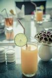 Orange juice and fruit Royalty Free Stock Photography