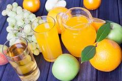 Orange juice and fruit Royalty Free Stock Images