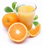Orange juice and fruits. Stock Photos