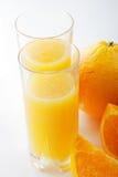 Orange juice with fruits Royalty Free Stock Image