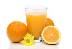 Orange juice with fruits Stock Images