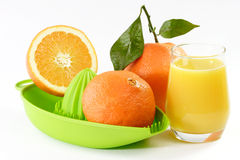 Orange Juice with fruits Stock Image
