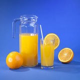 Orange juice with fruits Royalty Free Stock Photography