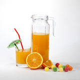 Orange juice with fruits Stock Photography