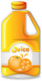 Orange juice in a gallon. Illustration of an orange juice in a gallon on a white background Royalty Free Stock Image