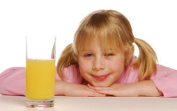 Orange Juice Girl. Stock Image