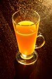 Orange juice in a glass Stock Image