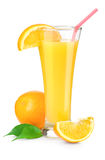 Orange juice in a glass Stock Images