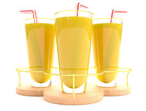 Orange juice in glass Stock Photo