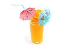 Orange juice in glass Royalty Free Stock Images