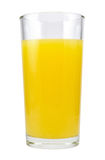 Orange juice in glass. Isolated on white background Stock Photos