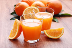 Orange juice in the glass Royalty Free Stock Photos