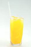 Orange juice glass Royalty Free Stock Photo